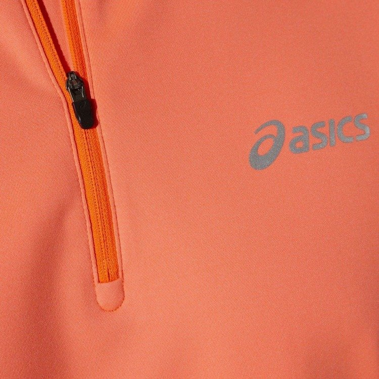 Asics Winter-ESS 1/2 Zip - Kapuzenjacke für den Lauf (orange)